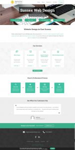 Business Agency WordPress Theme Design Sussex