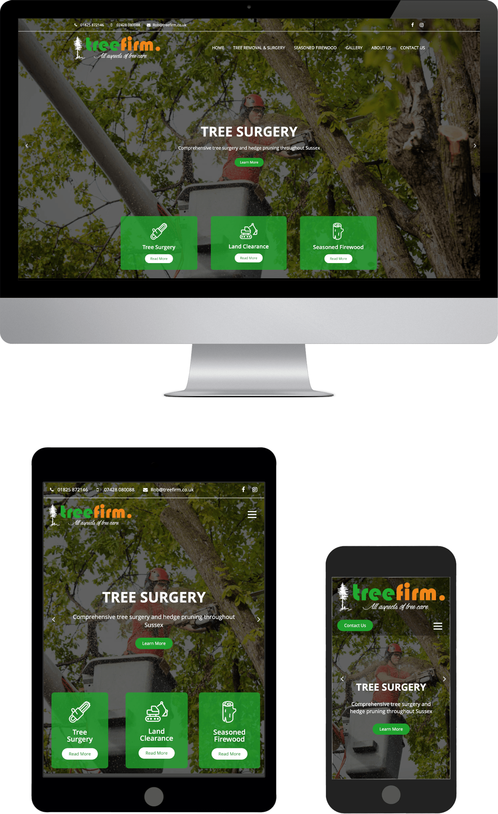 Treefirm Mobile Responsive Website Design Sussex