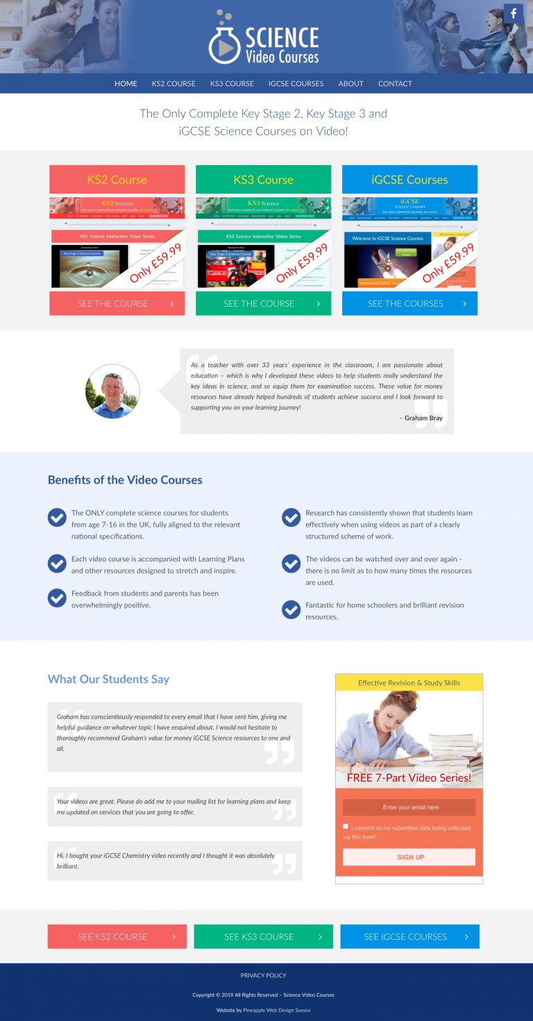 science-video-courses-wordpress-theme-design-sussex