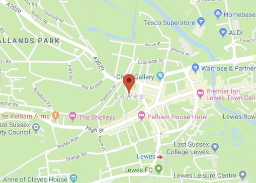 Web Design Lewes Map